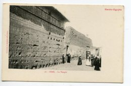 HAUTE EGYPTE 031 ESNE No 50 Le Temple Entrée Animation    - 1900  Dos Non Divisé Bergeret - Egypte