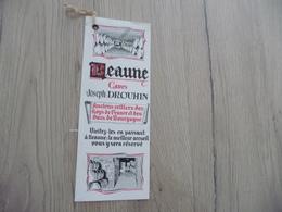 Marque Page Ancien Illustré Beaune Vin Caves De Joseph Drouhin - Segnalibri