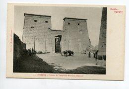 HAUTE EGYPTE 056 THEBES   No 25 Temple De KHONSOU Pylones Du Temple     - 1900  Dos Non Divisé Bergeret - Egypt