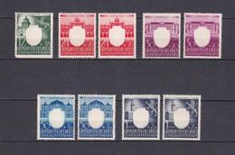 Generalgouvernement - 1943 - Michel Nr. 105/109 - Postfrisch/Ungebr. - Besetzungen 1938-45