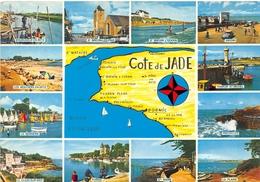 Carte Géographique Du Département - Côte De Jade - Pornic, Bourgneuf, La Bernerie, St-Brévin, Préfailles, Les Moutiers - France