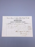 PARIS GANDAIS FABRICANT D'ORFEVRERIE PLAQUEE 1846 - France