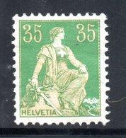 1907 / 1917 - HELVETIA YT 122 NEUF* - COTE 3 € - - Nuovi