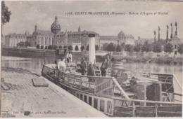 Cpa CHATEAU GONTIER (Mayenne) - Bateau D'Angers Et Hôpital (péniche) - Chateau Gontier