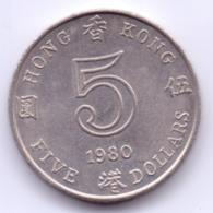 HONG KONG 1980: 5 Dollars, KM 46 - Hong Kong