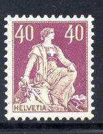 1907 / 1917 - HELVETIA YT 123 NEUF* - COTE 14 € - - Ungebraucht