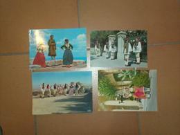 CAB0229 : Lot De 4 Cartes Folklore  : Grece - Cartes Postales