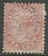 Canada, VRI 1859, 1 Cent Pale Rose, Used TORONTO AU 30 ... C.d.s. - Usados