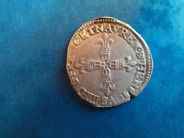 ROYALE HENRI IV - 1/4 D'ECU DU BEARN - 1589-1610 Henri IV Le Vert-Galant