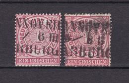 Norddeutscher Postbezirk - Stempel Hannover Hamburg - Gest. - North German Conf.