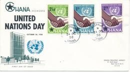 GHANA   - 1958  ,  Tag Der UNO     -   R - FDC - Ghana (1957-...)
