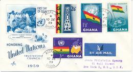 GHANA   - 1959  ,   UNTC  UNO-Treuhandsgebiete      -   R - FDC - Ghana (1957-...)