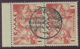 ITALIA - CEFALONIA E ITACA POSTA AEREA SASS. 2 USATO - Cefalonia & Itaca