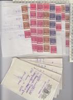 LOTTO 39 CONTRATTI DI BORSA NAPOLI 1961 CON 60 MARCHE SUI CONTRATTI VARI TAGLI - Altri