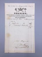 PARIS  DELRIEU FABRICANT MARCHAND DE PARAPLUIES, OMBRELLES, CANNES 1846 - France