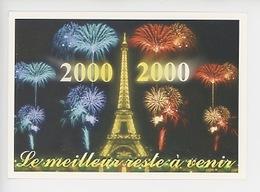 2000 Paris Tour Eiffel Feu D'artifice, Le Meilleur Reste à Venir, De Toutes Les Secondes De Cette ère (cp Vierge) - New Year