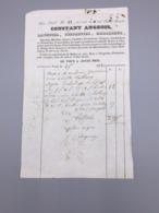 PARIS  CONSTANT ANGEOIS LAYETIER, COFFRETIER, EMBALLEUR 1843 - France