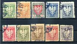 1919 POLONIA LOTTO USATO - 1919-1939 République