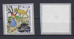 Bund 3215 SB RM Gerade Nummer Folienblatt Rotkäppchen 70+ 30 Cent ** - BRD