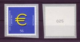 Bund 2236 SELBSTKLEBEND RM Mit Ungerader Nummer Euro Zeichen 56 Cent Postfrisch - BRD
