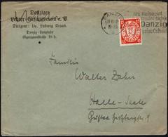 Germany - MiNr. 214x EF Brief Mit Werbestempel, DANZIG 30.12.1929 - Halle. - Allemagne