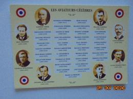 Les Aviateurs Celebres. Mermoz. Nungesser. Saint Exupery. Vedrines. Ader. Garros. Bleriot. Bossoutrot. Vedrines - Piloten