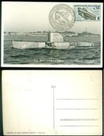 France 1963 Carte Postale Le Bathyscaphe Avec Mi 1421 - France