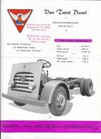 VAN TWIST DIESEL NV SCHIEDAM Sale Brochure Catalogue 1955 En NEERLANDAIS - Camions