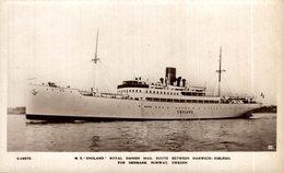 "M.S. ""England""  Carguero. Cargo Ship. Naviere Cargo - Handel"
