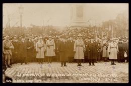 NEW - Ww1 - Drapeau Troupes Françaises AVEC NOMS!!  Luxemburg Luxembourg  WIROL Soldats 1914 1915 1916 1917 1918  1919 - Luxembourg - Ville