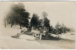 Voiture  (bus) à La Montagne Dans La Neige (Transport? Des Alpes Françaises) C 1935 FG0198 - Cars