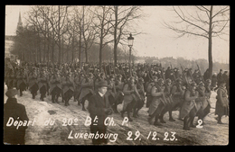 NEW - Ww1 - DEPART Troupes Françaises 20e Bat. 1923 Luxemburg Luxembourg  WIROL  1914 1915 1916 1917 1918  1919 - Luxembourg - Ville