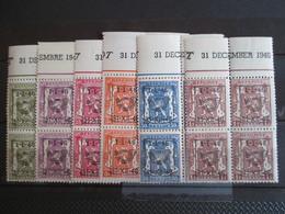 PRE 547/52 - In Blokken Van Vier - Met Drukdatum - Typografisch 1936-51 (Klein Staatswapen)