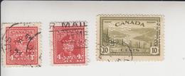 Canada 3 Dienstzegels Perfo OHMS Gestempeld - Perfins
