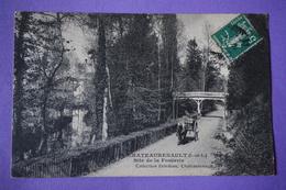 CPA 37 CHATEAURENAULT SITE DE LA FOULERIE ATTELAGE 1910 - France