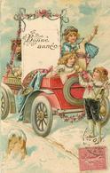 BONNE ANNÉE - Enfant Fêtant Le Nouvel An (carte Gaufrée). - New Year