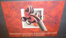 Carte Postale - édition Pistolet Bleu - Orchestre National Bordeaux Aquitaine Alain Lombard (violon) - Pubblicitari