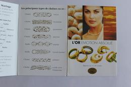 Petit Calendrier 1995  Offert Par Bijouterie Bellecour Lyon  4 Volets - Calendriers