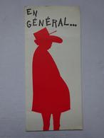 OHM Carte Postale Humoristique Silhouette Caricature Du Général De Gaulle éditions Dorchy Impressions - Hommes Politiques & Militaires