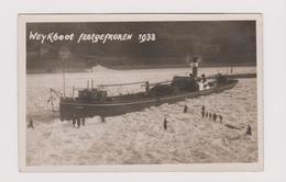 Alte Fotokarte Weykboot Amsterdam Festgevroren 1933 Staueis - Kaub