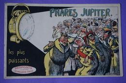 CPA PHARES JUPITER ILLUSTRATEUR Eugene VAVASSEUR Dessin PUBLICITE MATERIEL AUTOMOBILE Usine DESPONTS à LEVALLOIS PERRET - Autres Illustrateurs