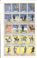 KB586 - 2 BLOCS DE 20 VIGNETTES - ARMEE FRANCAISE - ENGAGEZ VOUS - Vignettes Militaires