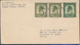 BELGIAN CONGO OPEN COVER FROM ABA 17.10.46 TO USA - 1923-44: Briefe U. Dokumente