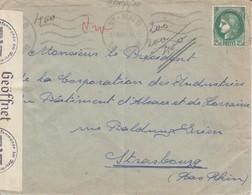 Env Affr Y&T 375 Obl ST MALO Du 19 XI 40 Adressée à Strasbourg Avec Censure - Guerre De 1939-45