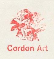 Meter Cover Netherlands 1985 Cordon Art - M.C. Escher - Birds - Baarn - Arts