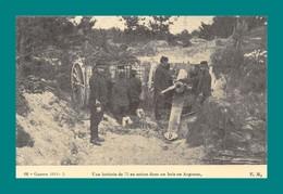 REPRODUCTION Guerre 1914 1915 Une Batterie De 75 Dans Un Bois En Argonne - Materiaal