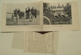 Entre SALON De PROVENCE  Et  ARLES - Record Vitesse Automobile Darracq Pilote Hémery  - Coupure De Presse De 1906 - Documentos Históricos