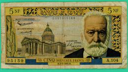 5 Francs - France -  Pasteur - B.2-5-1969.B.   A.104/95159 - TB - - 1962-1997 ''Francs''