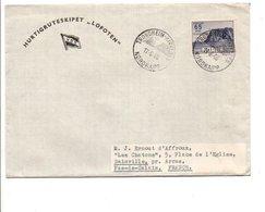 NORVEGE LETTRE DE TRONDHEIM POUR LA FRANCE 1966  CAP NORD - Brieven En Documenten