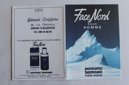 Petit Calendrier 1994parfum FACE NORD  Pour Homme - Calendriers